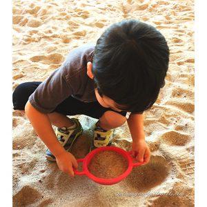 Gem digging at dino park