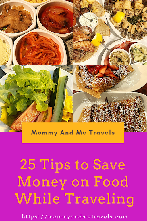 Tips for saving money on food while traveling