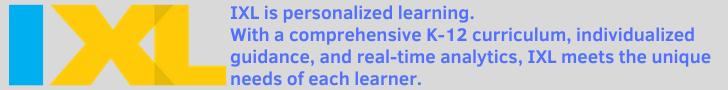 IXL E-Learning Website Banner
