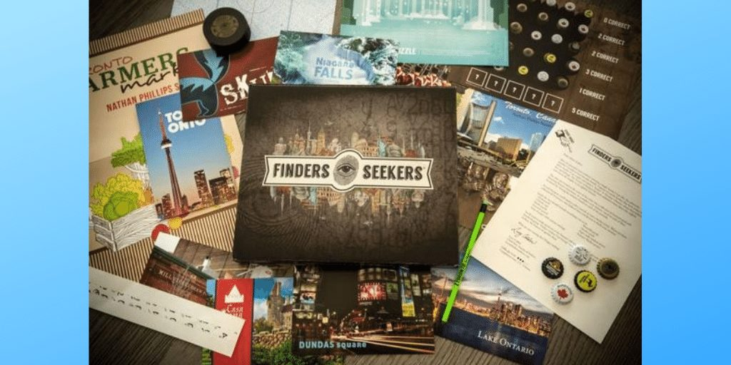 Finders-Seekers - Escape Room Game Box Subscription
